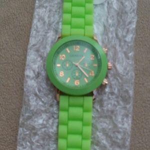 Neon Green Retro Watch